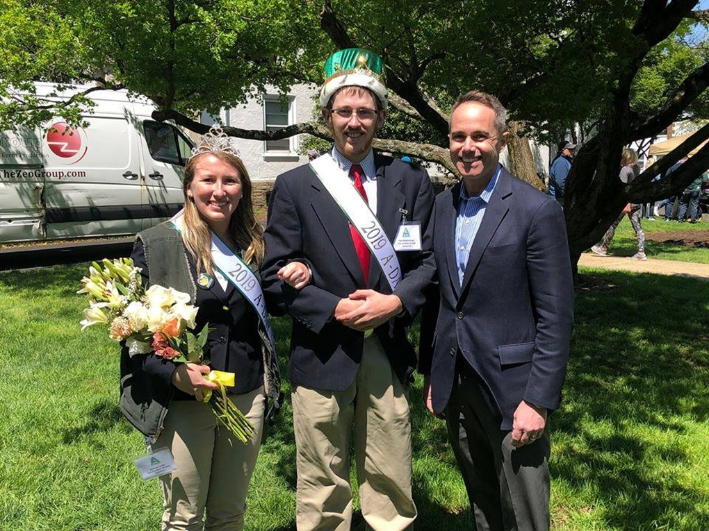 April 2019: Senator Santarsiero with the 2019 A-Day King and Queen, Tyler and Amanda.