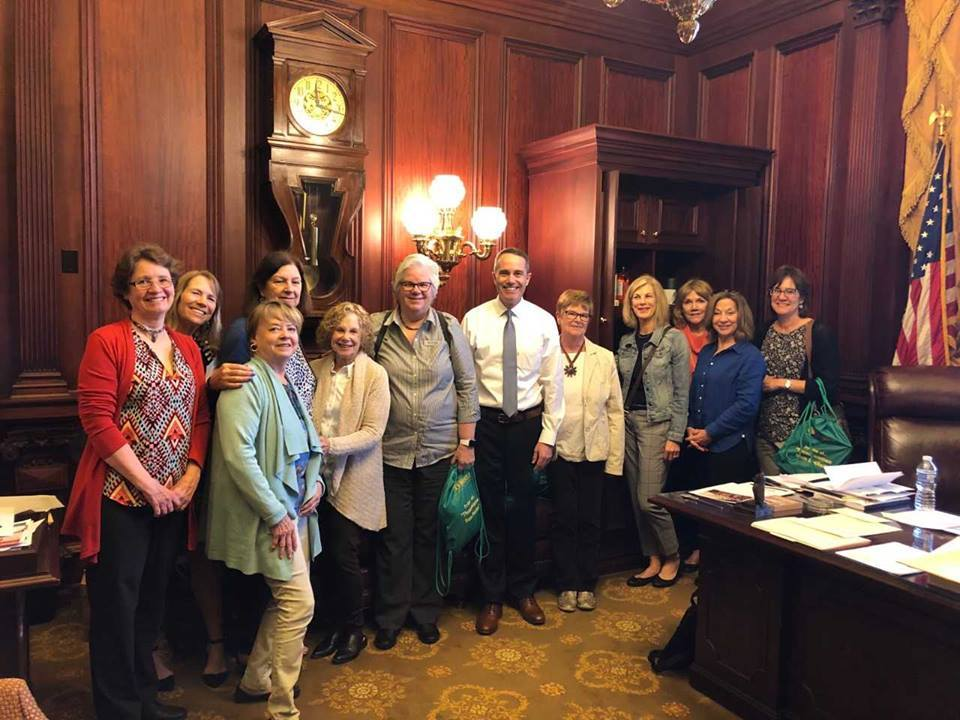 April 2019- Senator Santarsiero with members of the Bucks County Women's Advocacy Coalition in Harrisburg