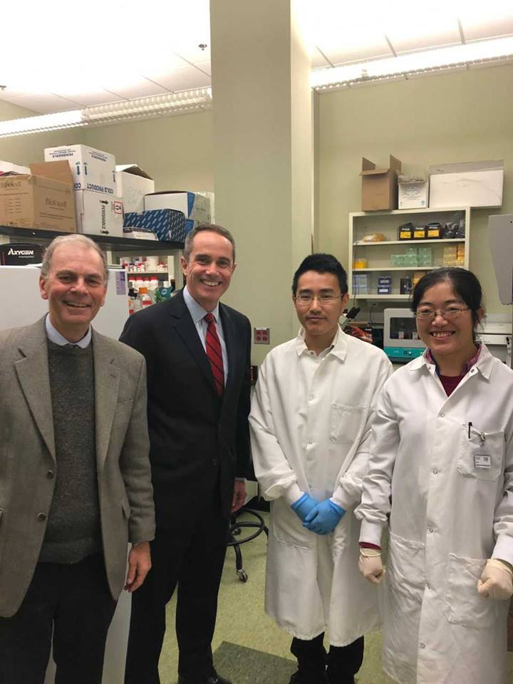 February 12, 2019: Senator Santarsiero visiting the Pennsylvania Biotechnology Center of Bucks County in Buckingham