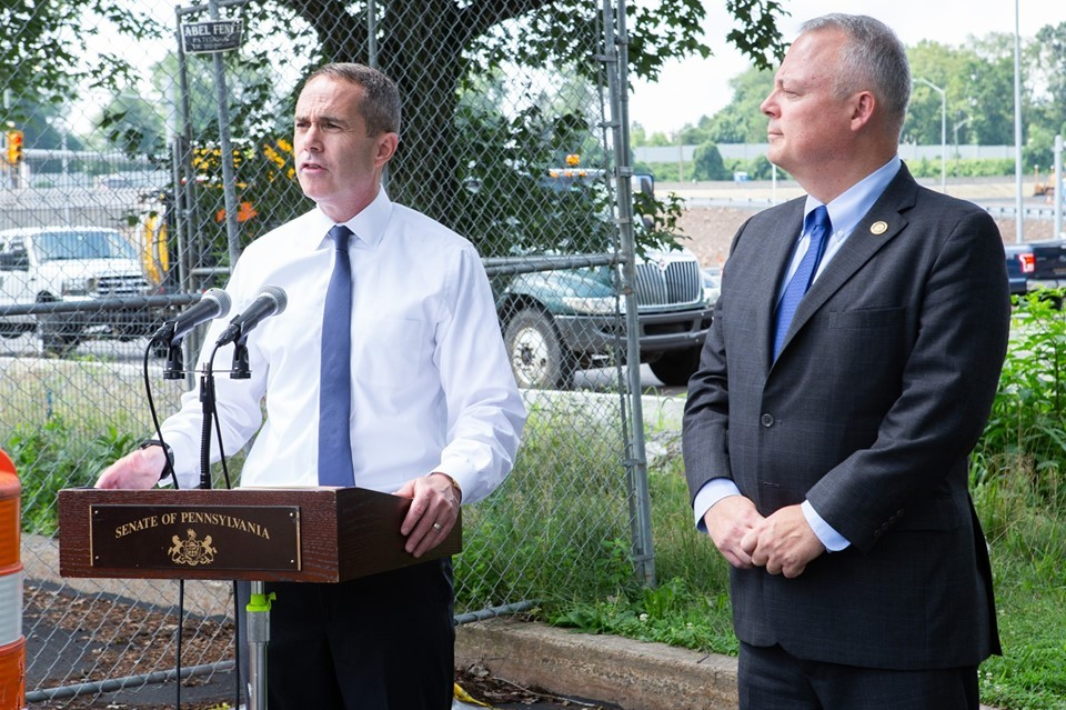 July 12, 2019: Senator Santarsiero at the Commuter Tax Credit Press Conference