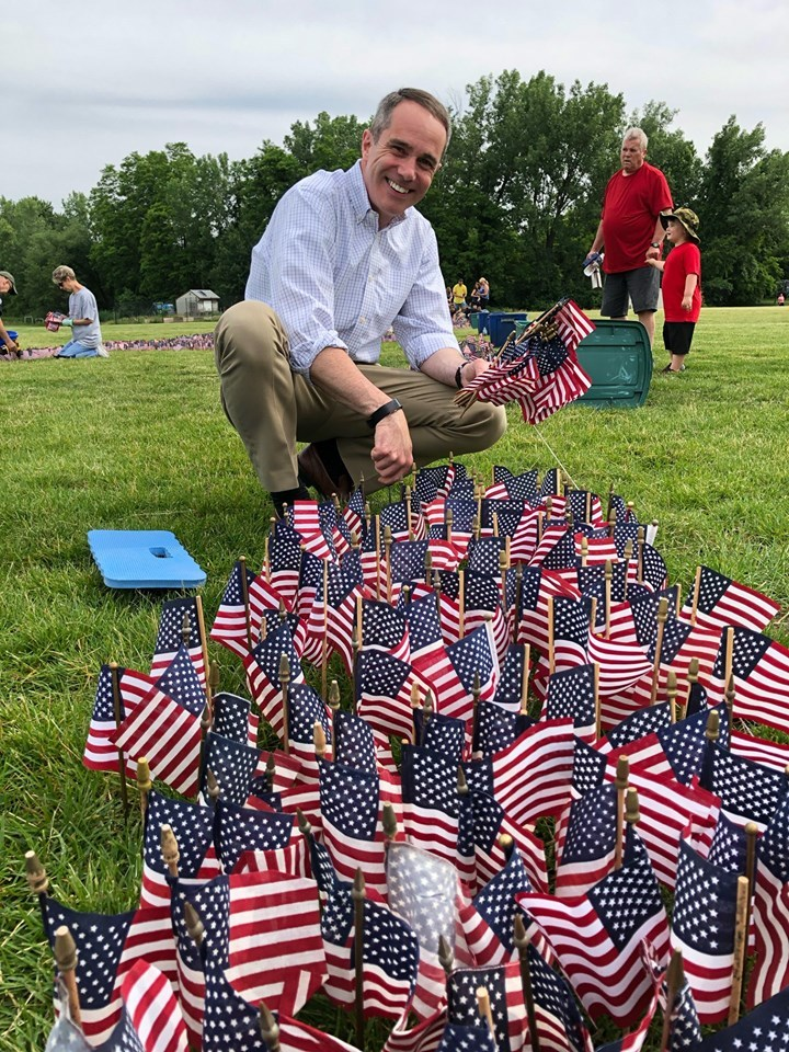 June 7, 2019: Senator Santarsiero at the 34th Annual Delaware Valley Vietnam Veterans DV3 Flag Memorial in Falls Township.