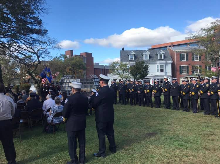 September 28, 2019: Senator Santarsiero in Doylestown for a Bucks County fallen firefighters ceremony