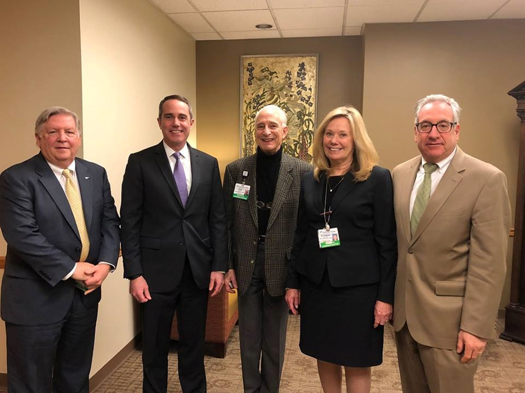 March 2019: Senator Santarsiero with administrators and doctors of Doylestown Health.