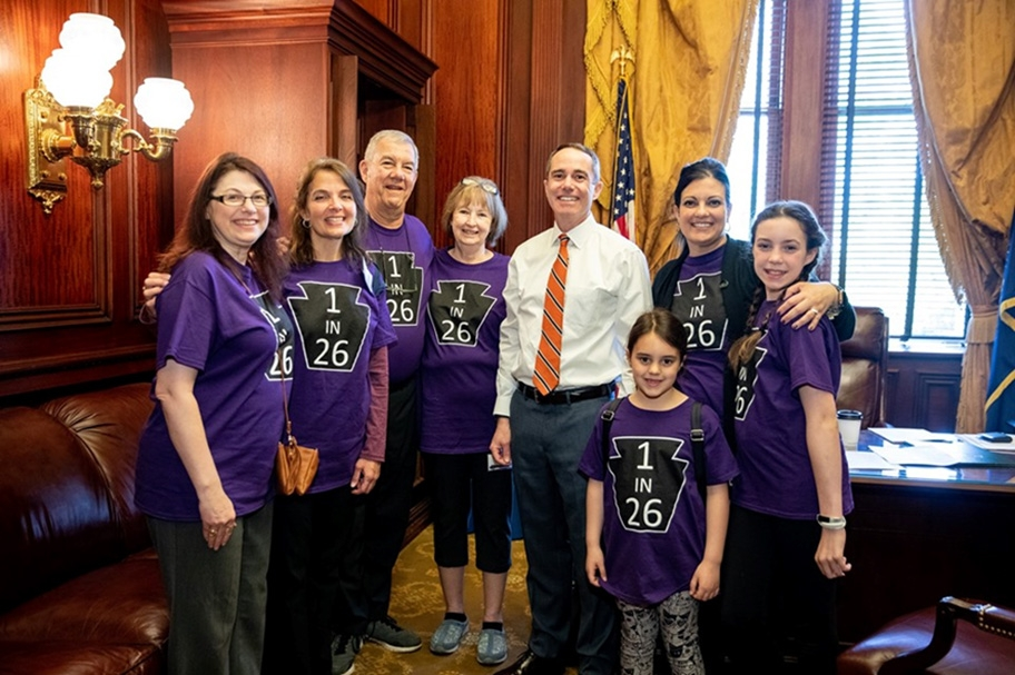 May 2019: Senator Santarsiero with members of the Epilepsy PA Epilepsy Foundation