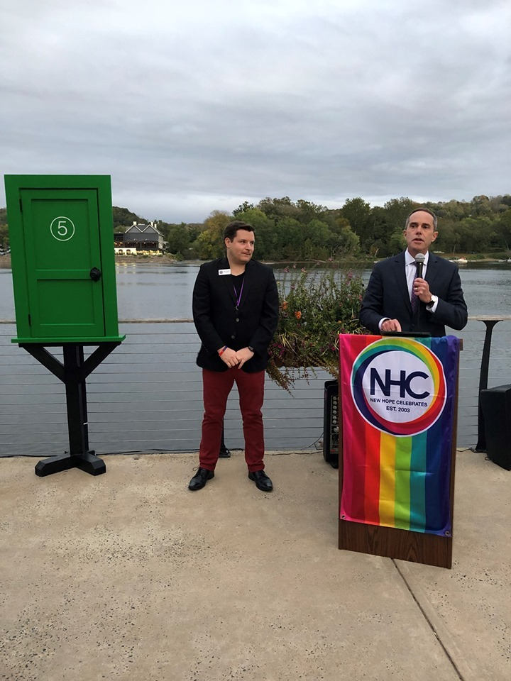 October 17, 2019: Senator Santarsiero in New Hope for the unveiling of an LGBTQ History exhibit during LGBTQ History Month.