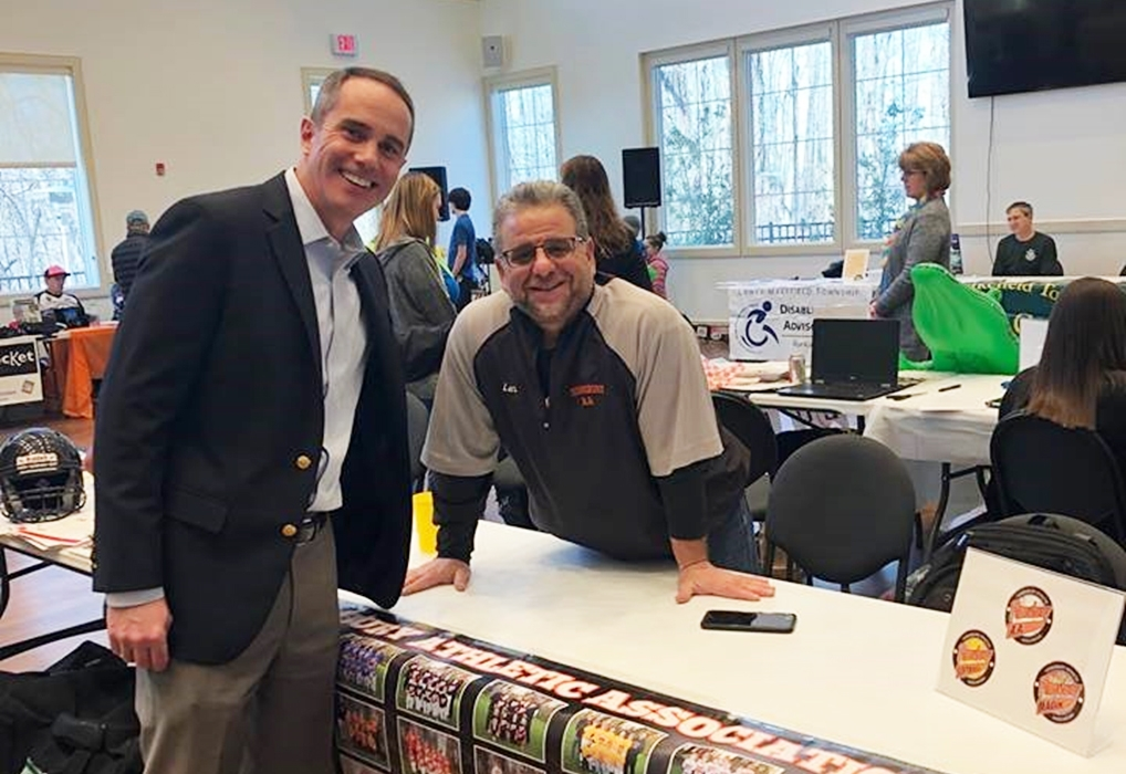 March 2019: Senator Santarsiero at the Lower Makefield Community Center Open House.