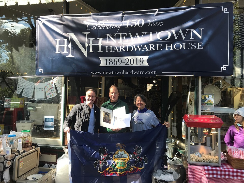 October 8, 2019: : Senator Santarsiero at Newtown Hardware House