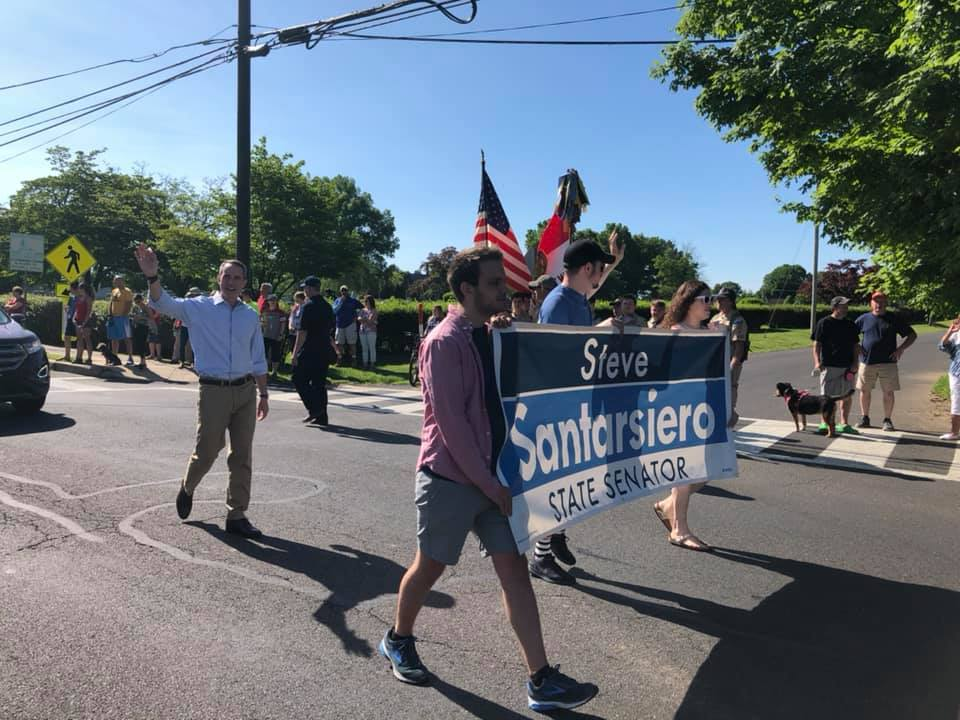 May 2019- Senator Santarsiero at the Newtown Memorial Day Parade
