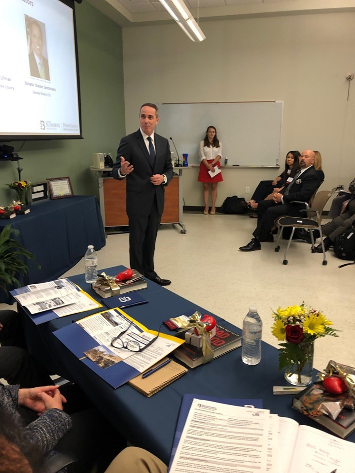 July 12, 2019: Senator Santarsiero speaking at the Pennsylvania Biotechnology Center of Bucks County's 5th Annual Entrepreneur's Spotlight
