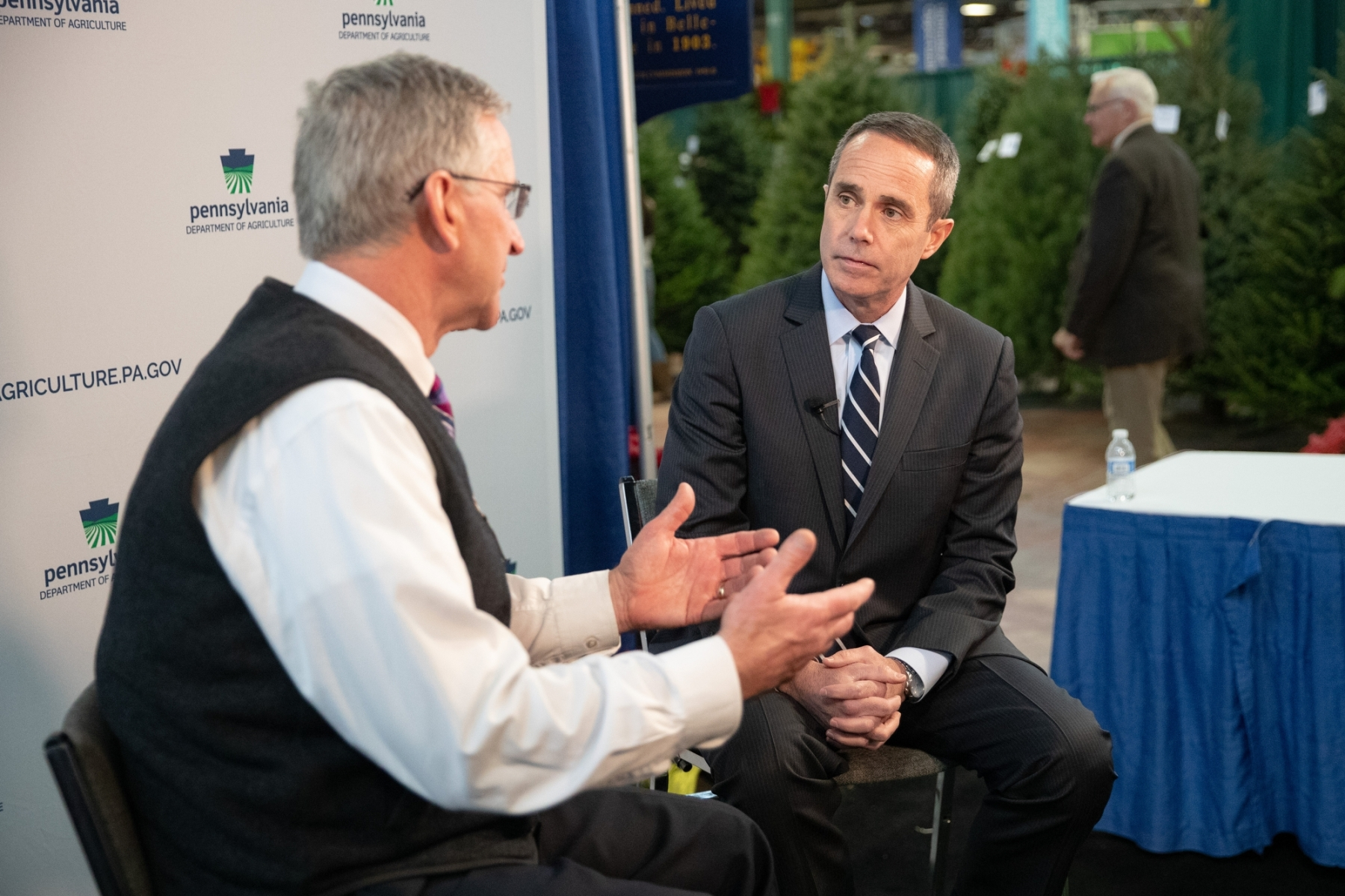 January 9, 2019: Senator Senator Steve Santarsiero attends the 2019 PA Farm Show.