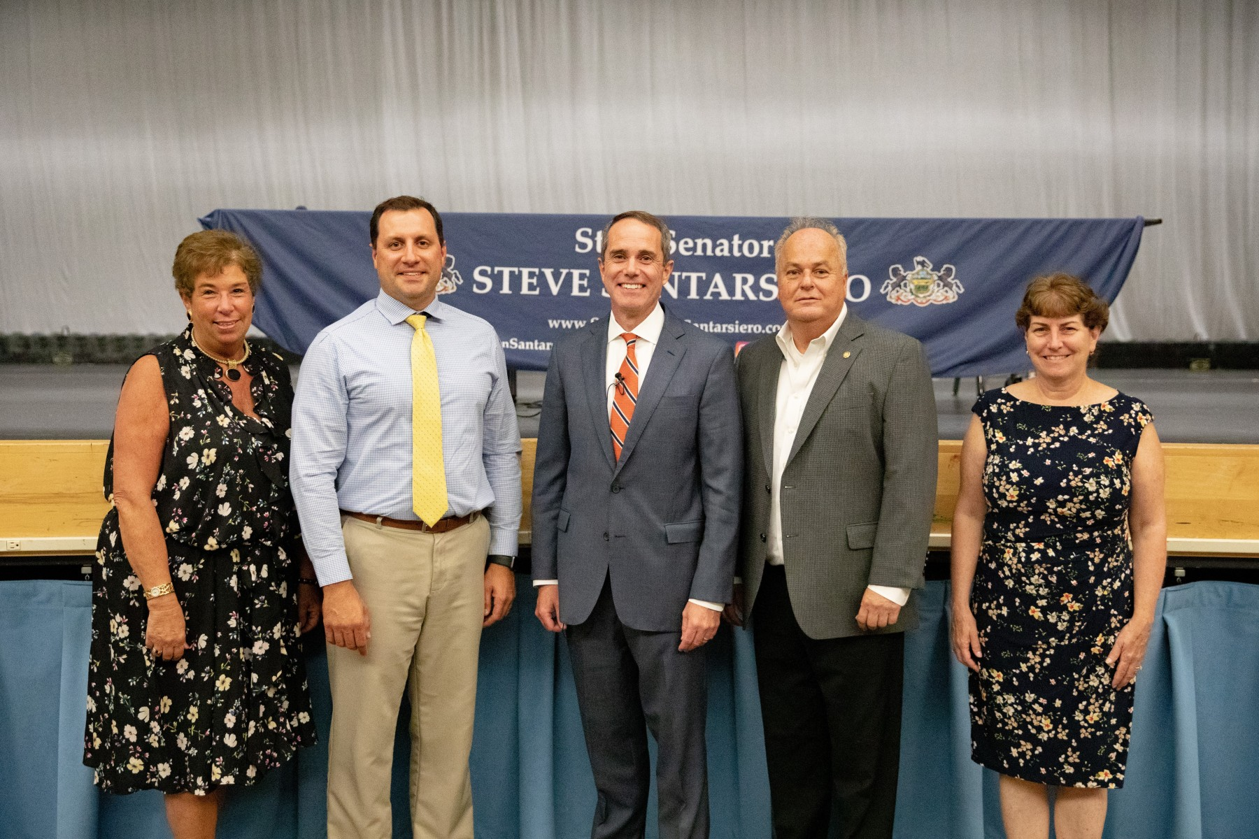 September 10, 2019: Senator Santarsiero with Representative John Galloway (D-140), and representatives from the PA Treasury Department, PHEAA, and American College Admissions.