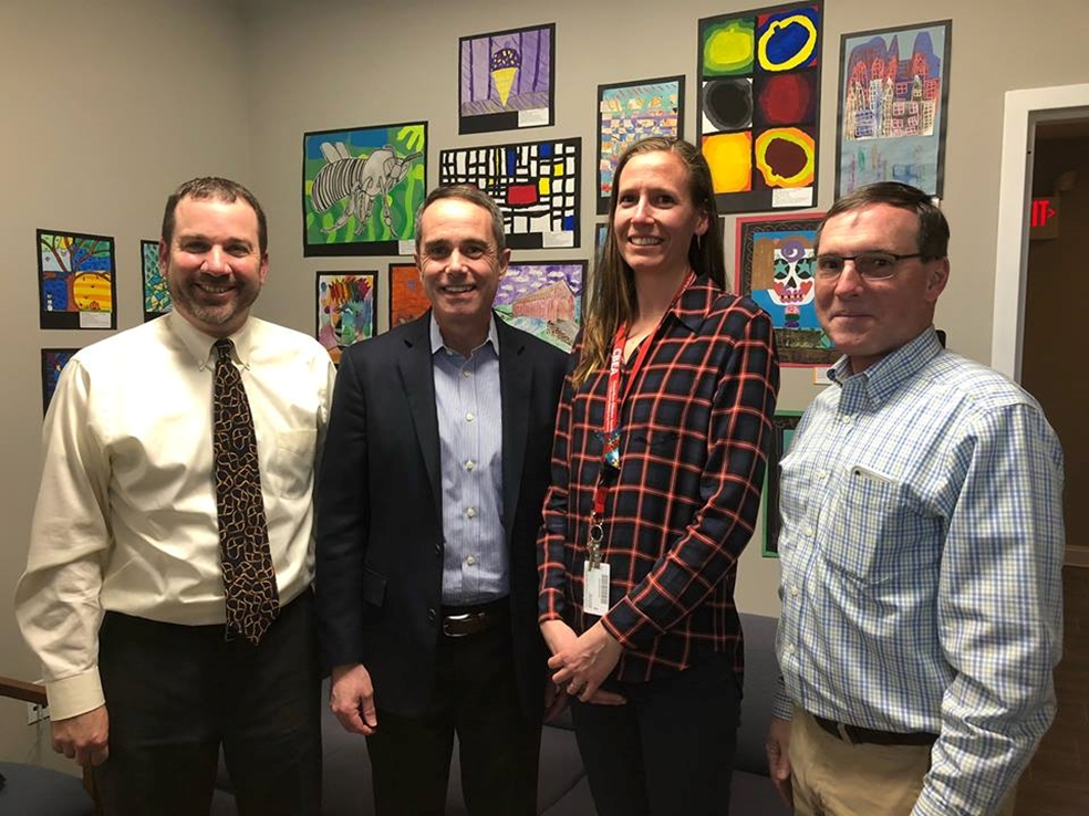 March 2019: Senator Santarsiero with members of the Central Bucks PSEA at the district office in Doylestown.