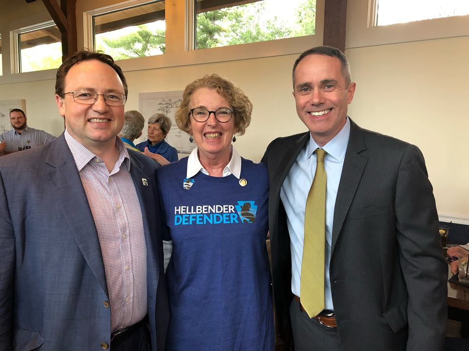 April 26, 2019: Senator Santarsiero at the Station Tap House in Doylestown with Rep. Wendy Ullman, PennEnvironment, and the Conservation Voters of Pennsylvania