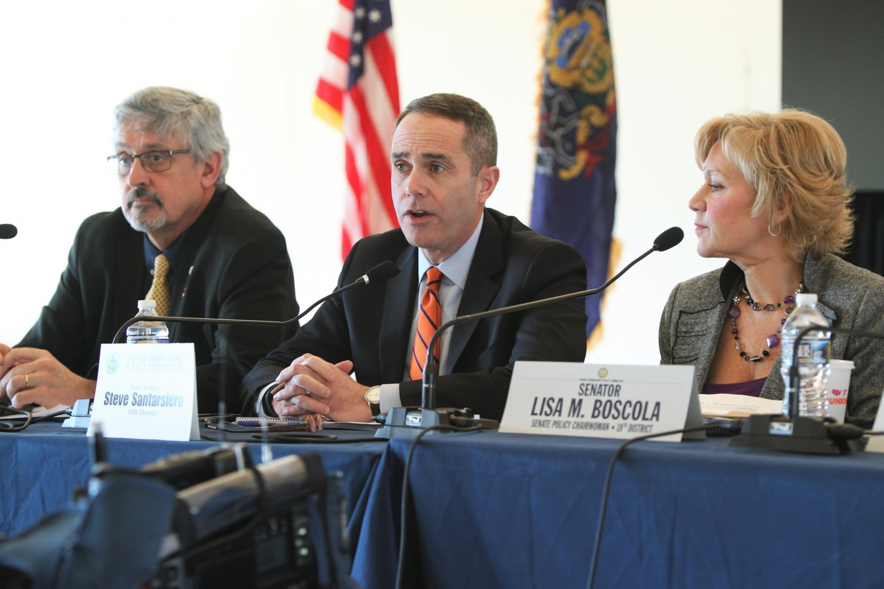 February 14, 2019 – Senator Steve Santarsiero participates  in the state Senate Democratic Policy Committee hearing on ways to prevent gun violence in Pennsylvania.