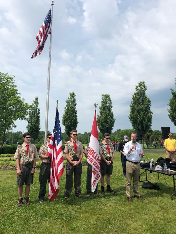 June 2, 2019: Senator Santarsiero at the Ride for the Heroes event at the Garden of Reflection in Lower Makefield