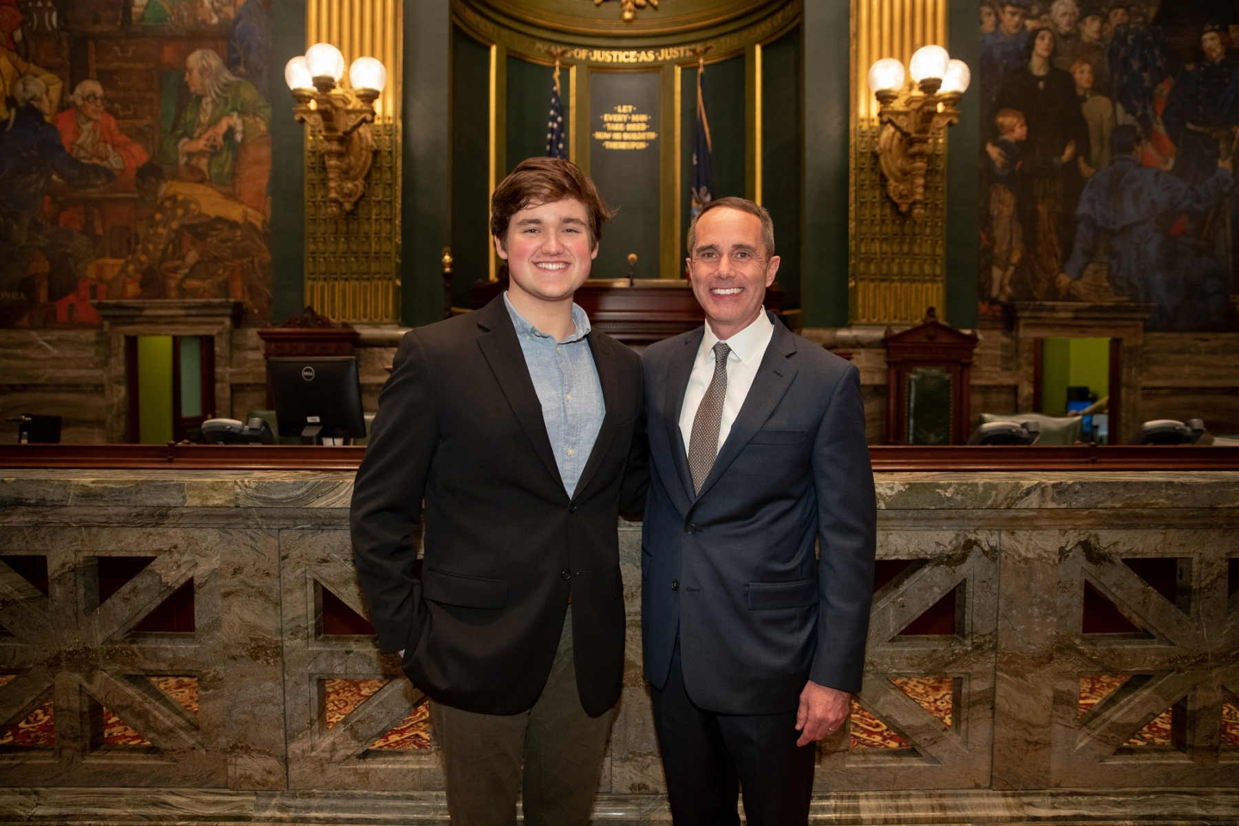 January 1, 2019: Senator Steve Santarsiero is sworn  into his 1st term in the Pennsylvania State Senate.