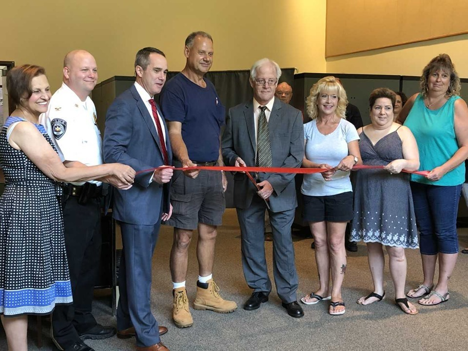 July 31, 2019: Senator Santarsiero with Tullytown elected officials as they open the Tullytown satellite office.