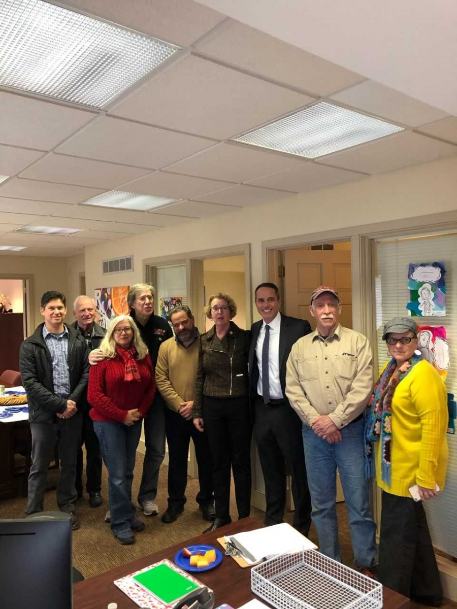 January 23, 2019: Senator Santarsiero attends district office opening of Rep. Wendy Ullman.