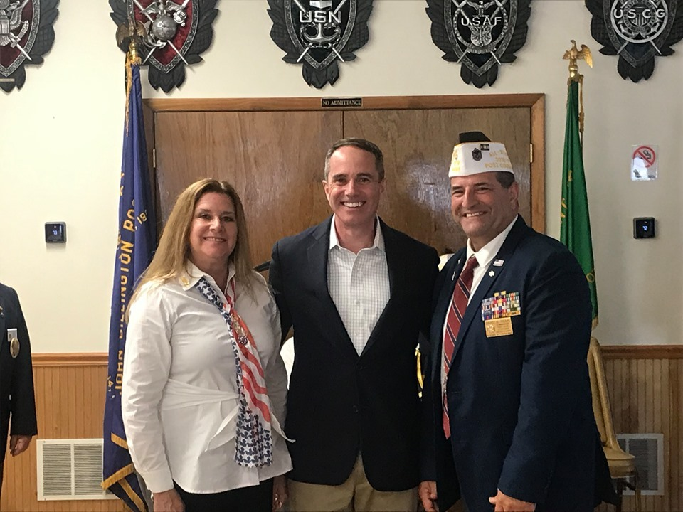June 23, 2019: Senator Santarsiero with John Billington VFW Post 6495 members as they installed new officers and celebrated achieving All State status