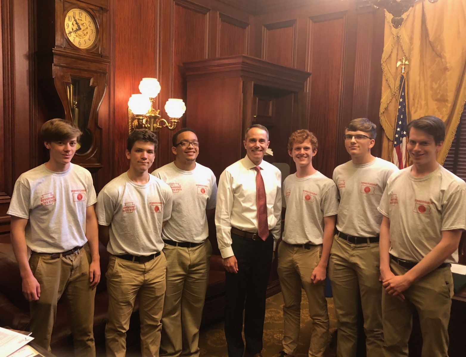 June 18, 2019: Steve meets with American Legion Boy's State Program.