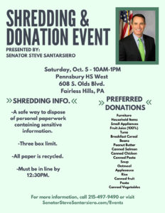Shredding & Donation Event - October 5, 2019